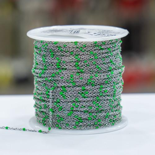 Orecchini Di Argento 925 Con Perle Di Fiume Barocche e Pietre Idrotermali - Verde