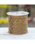 Orecchini Di Argento 925 Con Perle Di Fiume E Gocce Di Pietre Indiane Intrecciate Granato