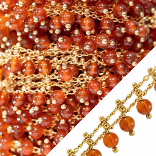 Orecchini Di Argento 925 E Perle Di Fiume 9,0-9,5mm 6 Paia Rosa