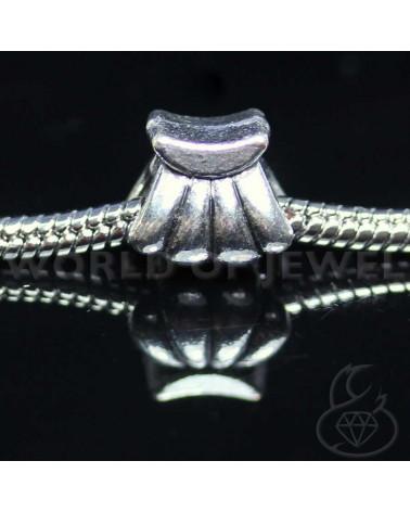 Orecchini Di Perle Di Fiume E Ottone 8mm 6 Paia - Bianco