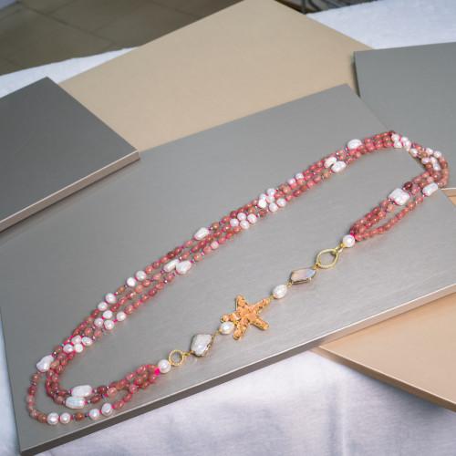 Perle di Fiume 1 Foro Tonde (AAA) 13,5-14,0mm 6 Paia Bianco