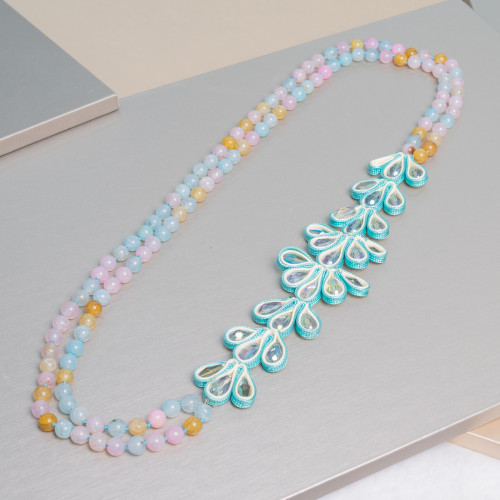 Perle di Fiume 1 Foro Tonde (AAAA) 12,0-12,5mm 6 Paia Bianco