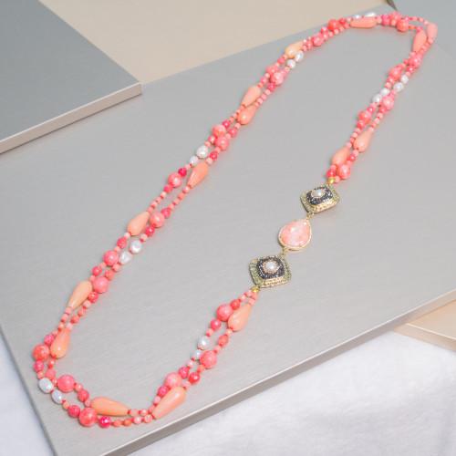 Perle di Fiume 1 Foro Tonde (AAAA) 13,5-14,0mm 6 Paia Bianco