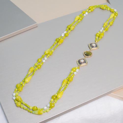 Perle di Fiume 1 Foro Tonde (AAAA) 13,5-14,0mm 6 Paia Lilla