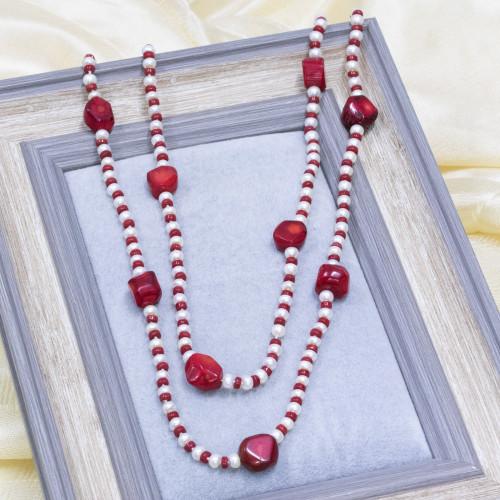 Perle di Fiume 1 Foro Tonde (AAAA) 14,0-14,5mm 6 Paia Lilla