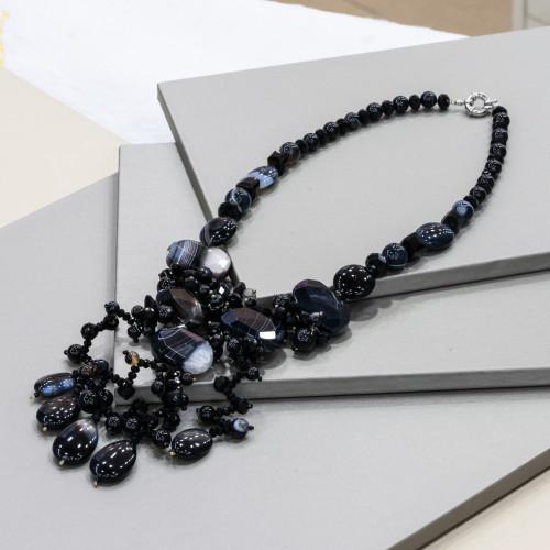 Perle di Fiume 1 Foro Tonde (AAAAA) 6,5-7,0mm 12 Paia Bianco