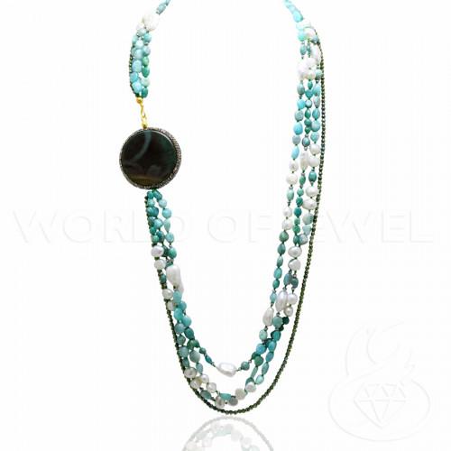 Perle di Fiume 1 Foro Tonde (AAAAA) 9,5-10,0mm 12 Paia Rosa