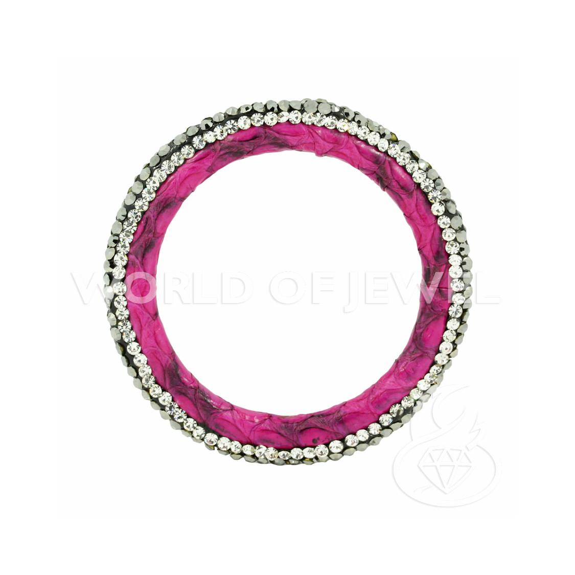 Perle di Fiume Tondo 6,0-6,5mm A+ Lilla Rigato