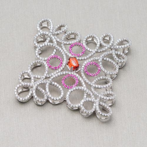 Perle di Fiume Tondo 7,0-7,5mm A Rosa Rigato