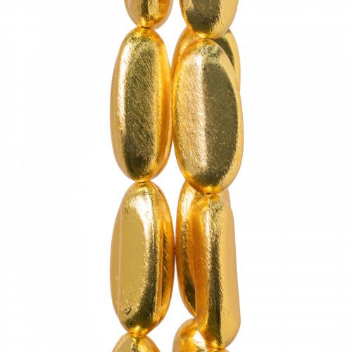 Perle di Maiorca Caramella 15x12mm - Marrone