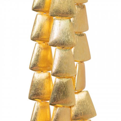 Perle di Maiorca Grigio Tahiti Gocce Piatto 15x18mm