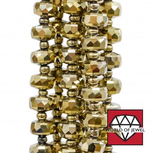Sfera Strass Preziosa Shamballa 1 Foro 12mm 10pz Peridoto