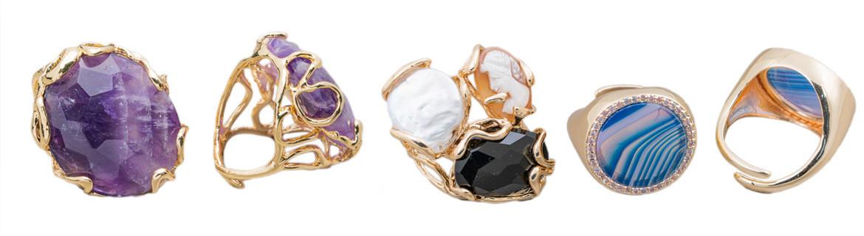 Vendita Ingrosso e Dettaglio di Anelli in Pietre Dure e Bigiotteria - World Of Jewel